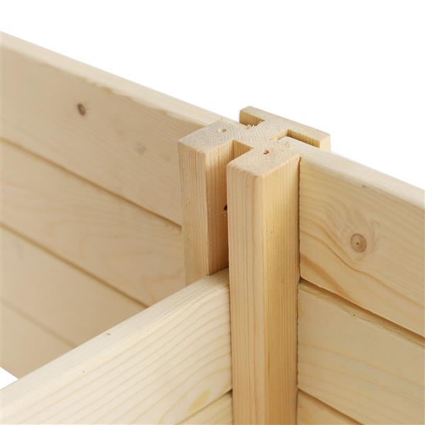 Wooden Planting Frame Double Grid Ground Type 244*61*25.5Cm