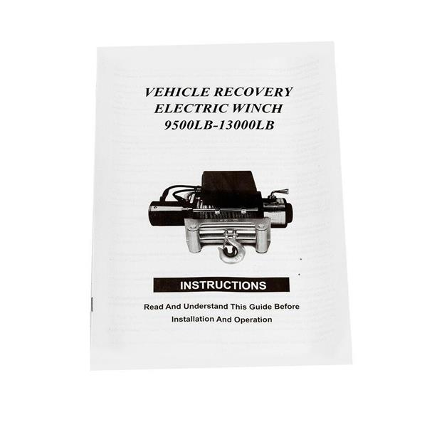 10000lbs/12V Electric Recovery Winch Truck SUV Wireless Remote
