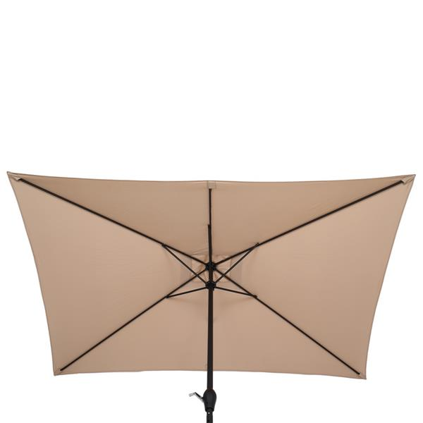 10FT Square Umbrella Waterproof Folding Sunshade Top Color(Resin Baseis not included, and 75690825、65010574、94617980、53133242 codes are required for the resin base)