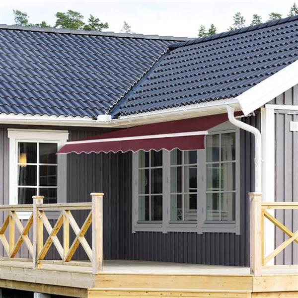 3x2.5 m Retractable Awning Red Wine