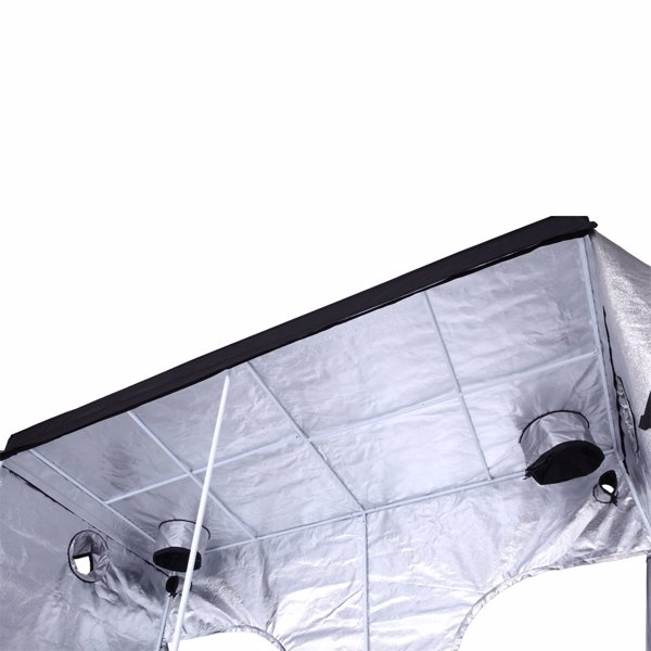 LY-240*120*200cm Home Use Dismountable Hydroponic Plant Grow Tent with Window Black