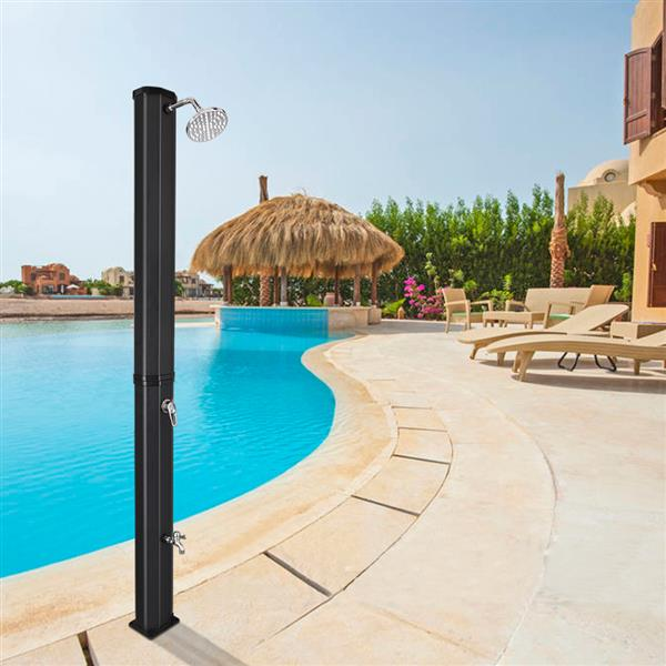 35L Outdoor Shower Column Villa Swimming Pool Bathing Beach Beach Floor Standing Top Shower With Large Shower Head