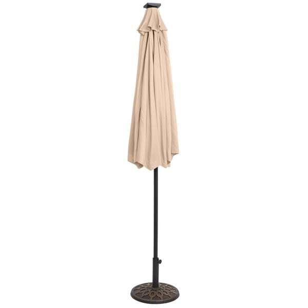 9FT Light Umbrella Waterproof Folding Sunshade Top Color(Resin Baseis not included, and 75690825、65010574、94617980、53133242 codes are required for the resin base)