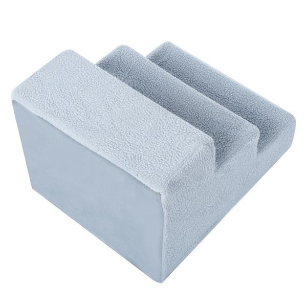 Pet Steps/Stairs for Dogs and Cats up to 44 lbs, Grey Cover and Easy to Clean