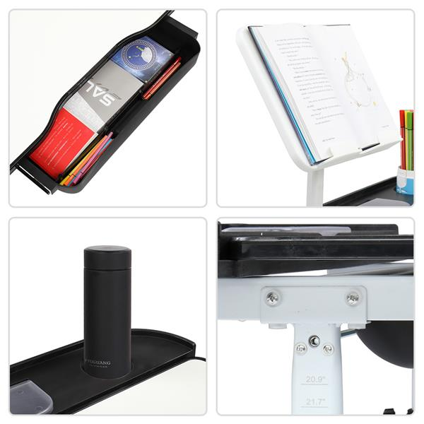 70CM Lifting Table Top Can Tilt Children Learning Table And Chair Black With Reading Stand   USB Interface Desk Lamp)