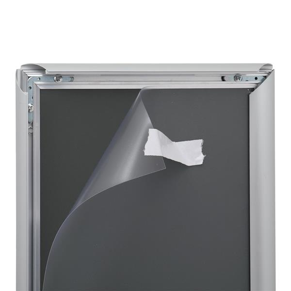 Leadzm Aluminum 21.59 * 27.94cm 25mm Frame Poster Frame, Right Angle Silver