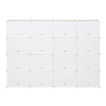 8-Tier Portable 64 Pair Shoe Rack Organizer 32 Grids Tower Shelf Storage Cabinet Stand Expandable for Heels, Boots, Slippers, White