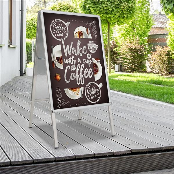 A1 Aluminum 25mm Double-sided A Type Board Sign A Type Silver