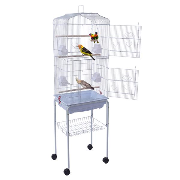"""59"""" Bird Cage Pet Supplies Metal Cage with Rolling Stand"""