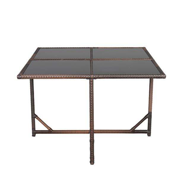Nine-Piece Table And Chair Set-1 (1/3) Brown Gradient
