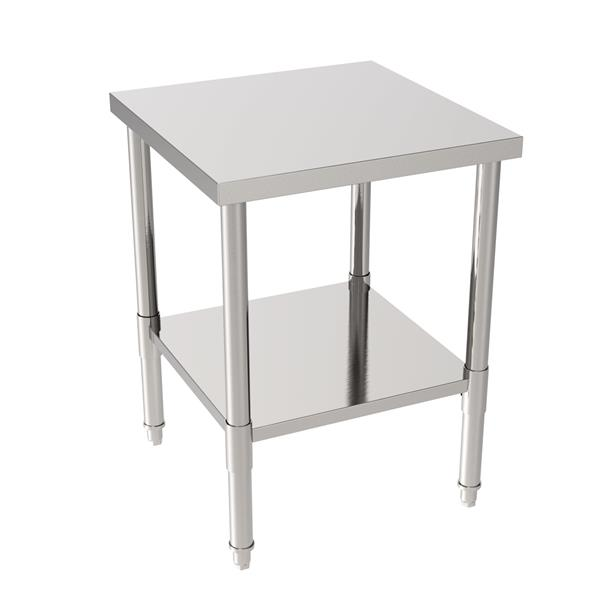 """24"""" Stainless Steel Galvanized Work Table (without Back Board)"""