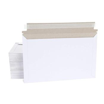 50pcs Long Side Opening 32*24.3cm (12.5in*9.5in) Paper Envelope Bag White