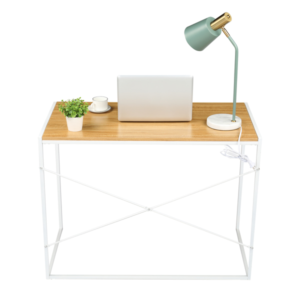 100*50*75cm White paint, MDF with Triamine Computer Desk