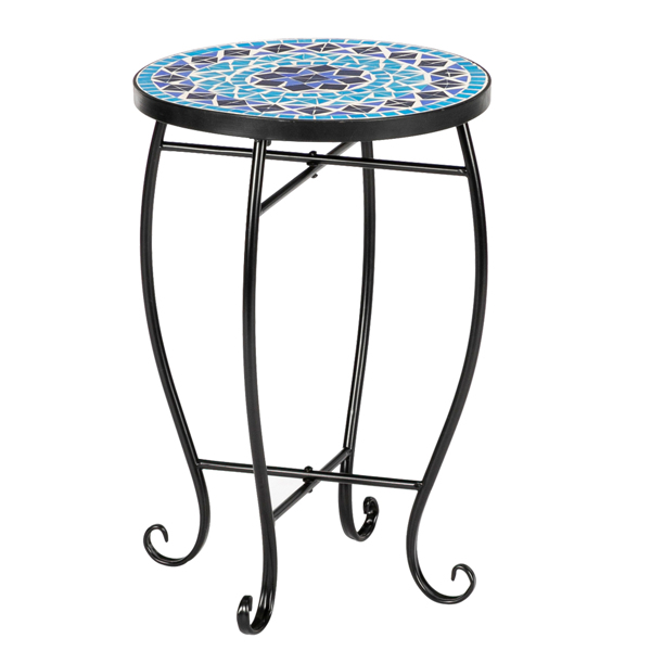 Artisasset Inlaid With Diamond-Colored Sea Mosaics With Round Terrace Bistro Tables