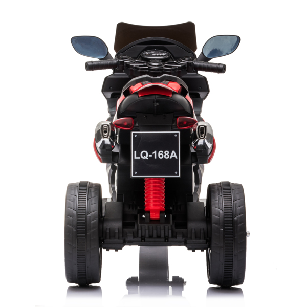Dual Drive 12V 4.5A.h Children's Motorcycle without Remote Control Red