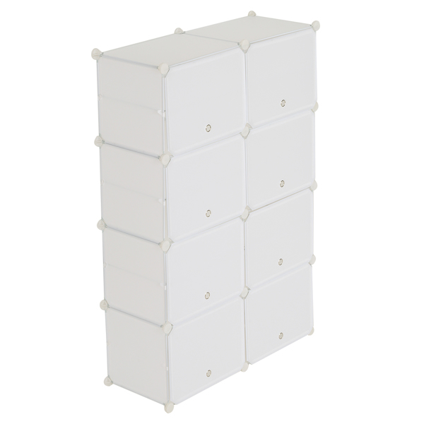 7-Tier Portable 28 Pair Shoe Rack Organizer 14 Grids Tower Shelf Storage Cabinet Stand Expandable for Heels, Boots, Slippers, White