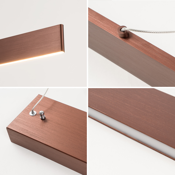 【 Strip 】 Home LED line light with 39.8x4.3inch, monochromatic temperature