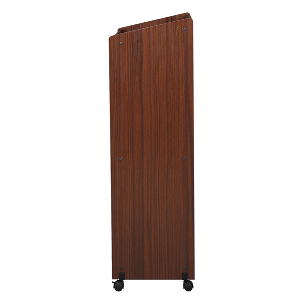 Wooden Removable With Compartments Podium Table Walnut