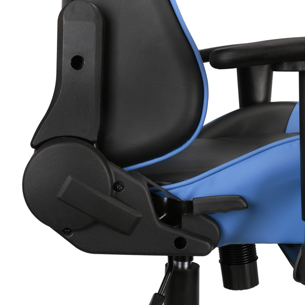 Gaming Chairs, Office Swivel Chairs, with headrest and Lumbar Pillow, Blue