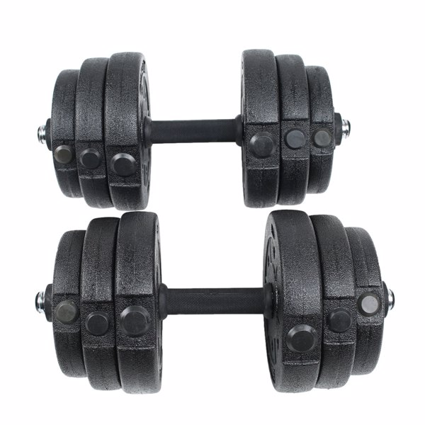 Body Building Apparatus Household Dismountable 20KG No Smell Eco-friendly Chromed Dumbbell Black
