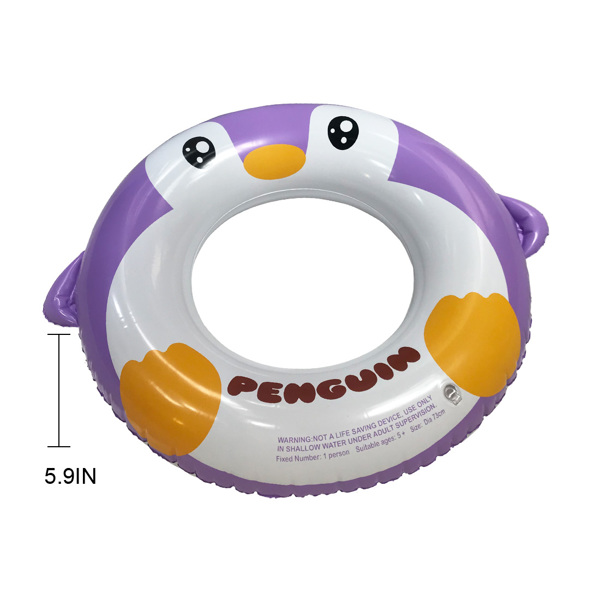 Inflatable Pool Tube for Kids, 3 Packs Penguin Swim Ring Pool Floats Party Toys for Swimming Pool Party Decorations