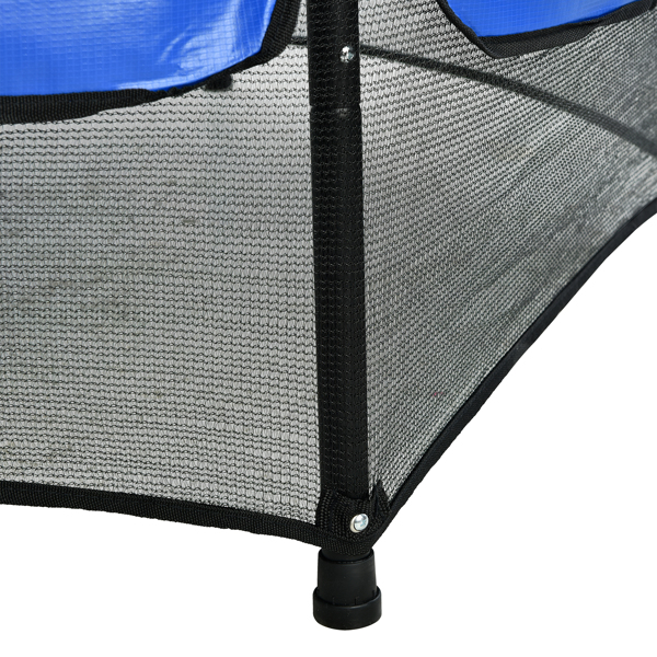 55in Blue Guard Pole Blue Stitching Outer Cover Trampoline Straight Leg Mini Round Inner Net
