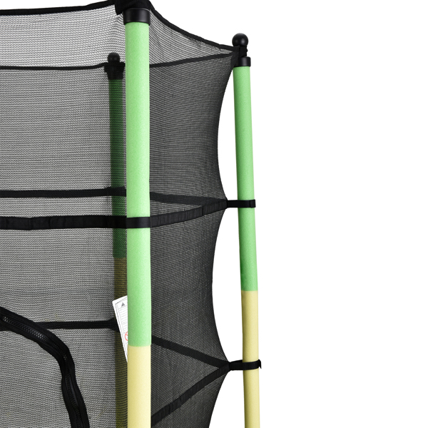 55in Yellow-Green Guard Pole Yellow-Green Stitching Outer Cover Trampoline Straight Leg Mini Round Inner Net