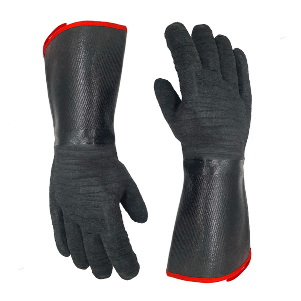 """Oven Gloves 14"""" 932℉, Smoke-Resistant Cooking Barbecue Grill Gloves, Waterproof, Fire-Resistant And Oil-Resistant Neoprene Coating"""