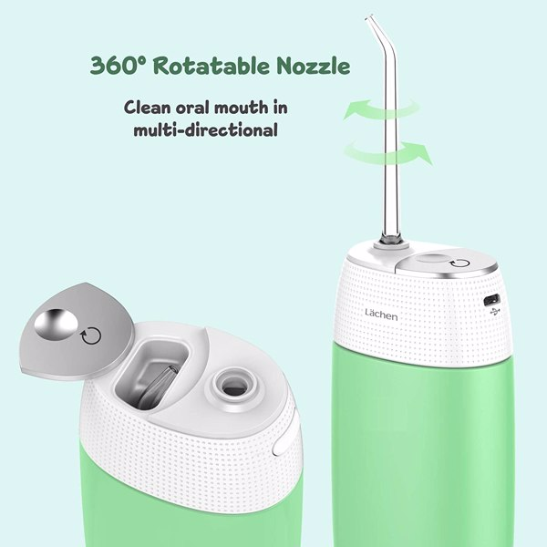 Water Flosser Portable Cordless Dental Oral Irrigator Mini Rechargeable Electric Flossing for Clean Teeth with 3 Modes IPX7 Waterproof (Cannot be sold on Amazon)