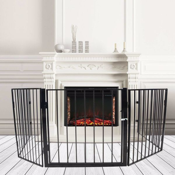 Metal Fireplace Fence Safety Fence Hearth Gate Pet Play Yard