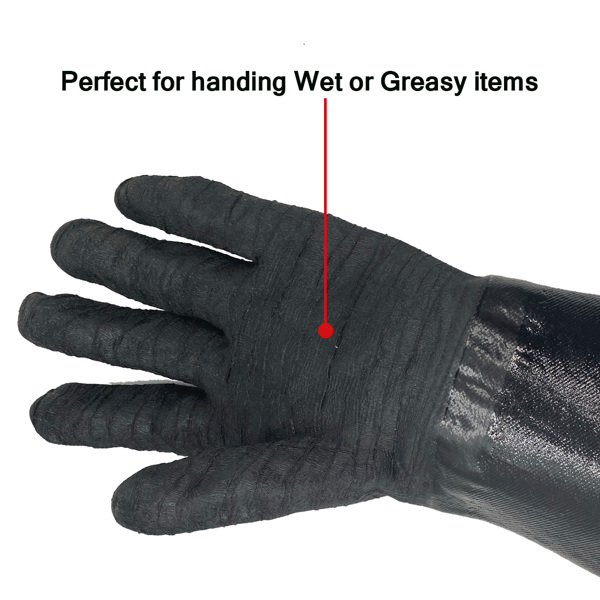 """14 """"932 ° F Barbecue Gloves And 18"""" 3-Wire Barbecue Brush Set, Grill Set Bbq Tools Bbq Accessories ( Do not sell on Amazon)"""