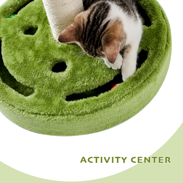Cat Tree Three-in-one Cat Toy Cat Scratching Post Cat Lounge Bed of Sunflower Shape for Cats Yellow