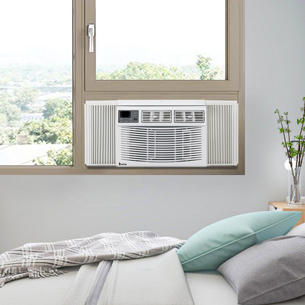 ZOKOP 15000BTU WAC-15000 110V 1600W Air Conditioner White ABS Window Type Refrigeration/Energy Saving/Fan/Dehumidification Portable All-in-One