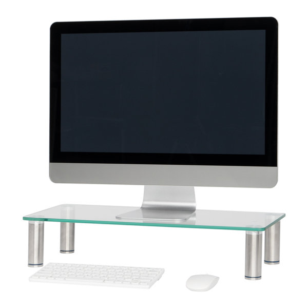 Computer Monitor Riser Multi Media Desktop Stand for Flat Screen LCD LED TV, Laptop / Notebook / Xbox One