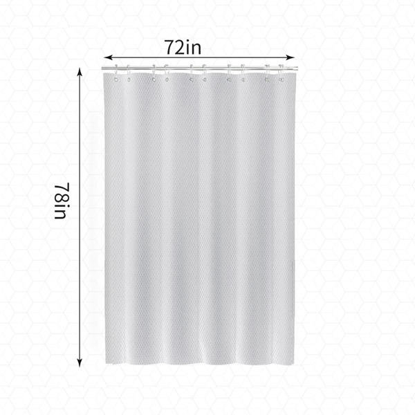iAHOME Shower Curtain Set Machine Washable Waterproof Shower Curtains with 12 Rust-Proof Hooks, Polyester Fabric Shower Curtains for Bathroom