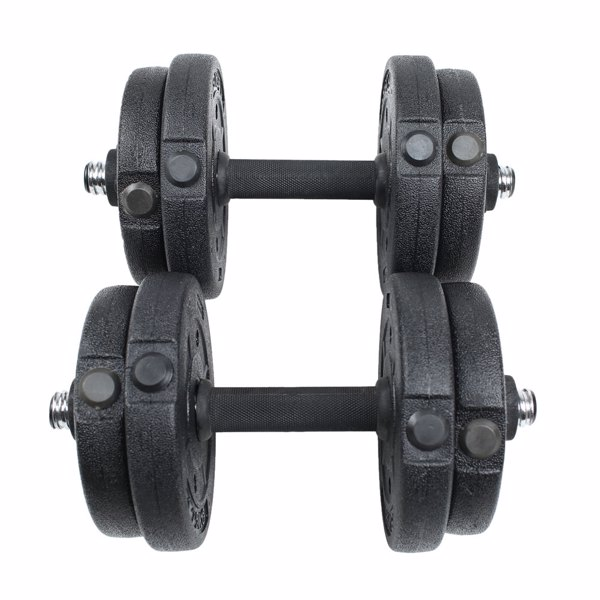 Body Building Apparatus Household Dismountable 10KG No Smell Eco-friendly Chromed Dumbbell Black