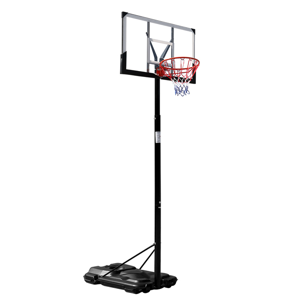 HY-B076 Portable and Removable Adult PC Transparent Backboard Basketball Stand (Basket Height Adjustment 2.45m-3.05m) Maximum 7# Ball