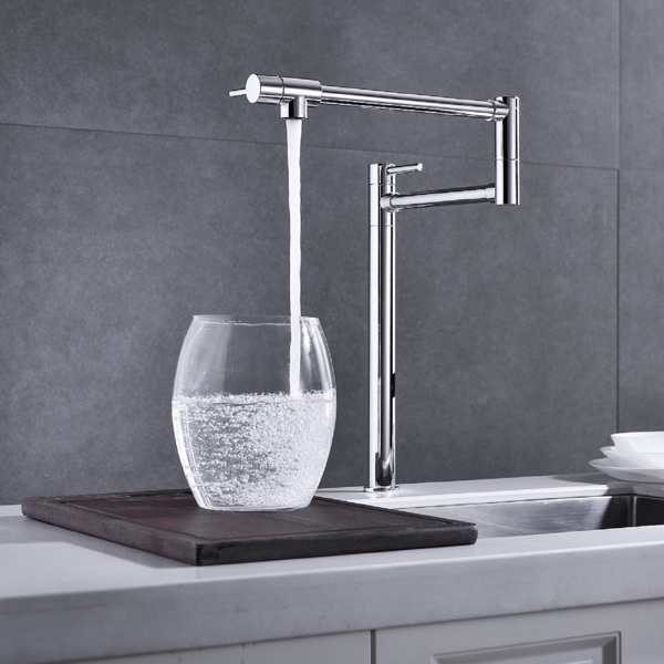 Pot Filler Kitchen faucetBrushed Nickel Finish with Extension Shank