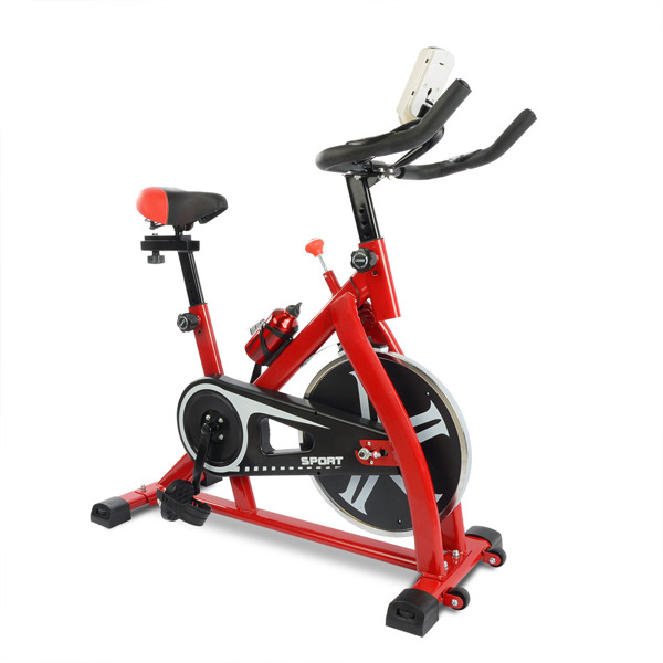 Stationary Exercise Bike Fitness Cycling Bicycle Cardio Home Sport Gym Training Red