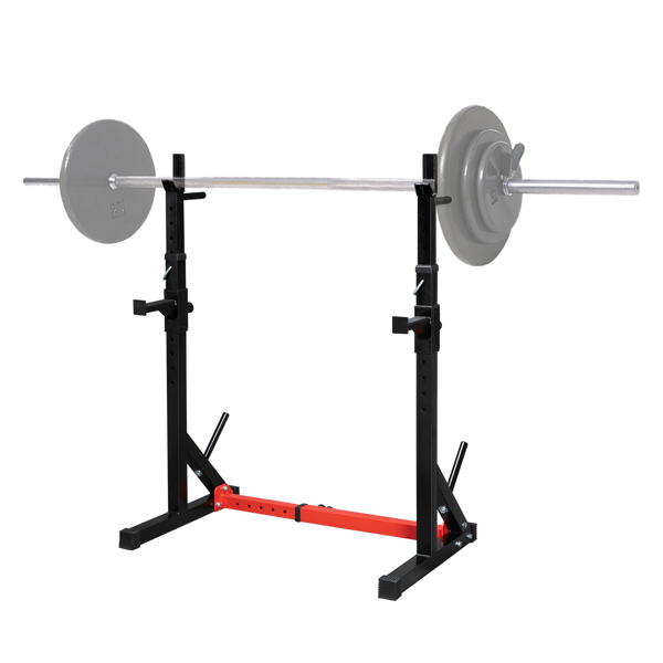 Home Indoor Fitness Adjustable Multi-function Barbell Stand Squat Bench Press Trainer