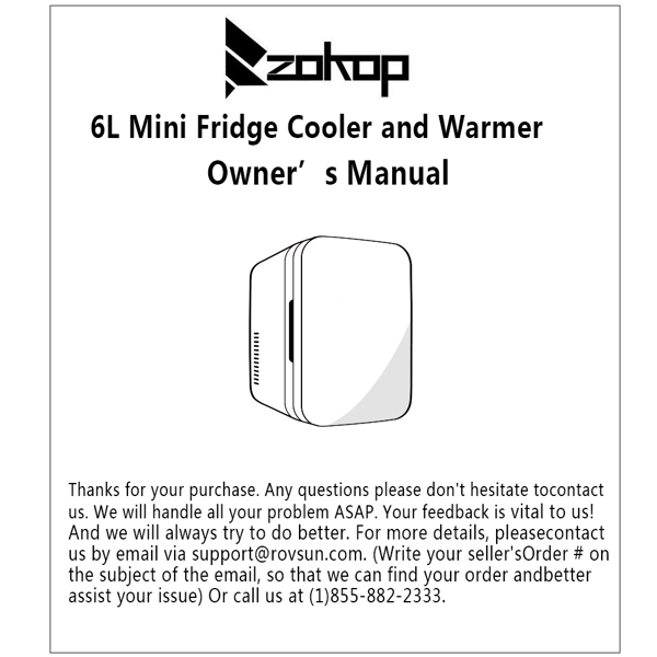 ZOKOP Electric Mini Portable Fridge Cooler & Warmer (6 Liter / 0.21 Cuft / 8 Can)  AC/DC Portable Thermoelectric System Blue