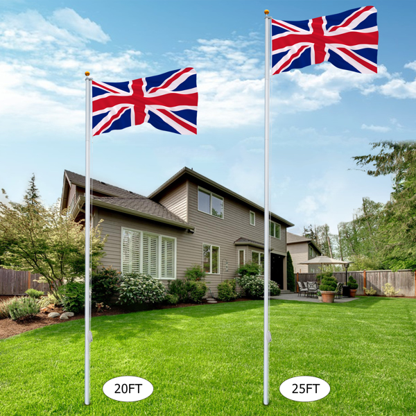 5.1*5.1*750cm Aluminum Alloy Splicing Flagpole Adjustable And Retractable Courtyard Outdoor Flagpole