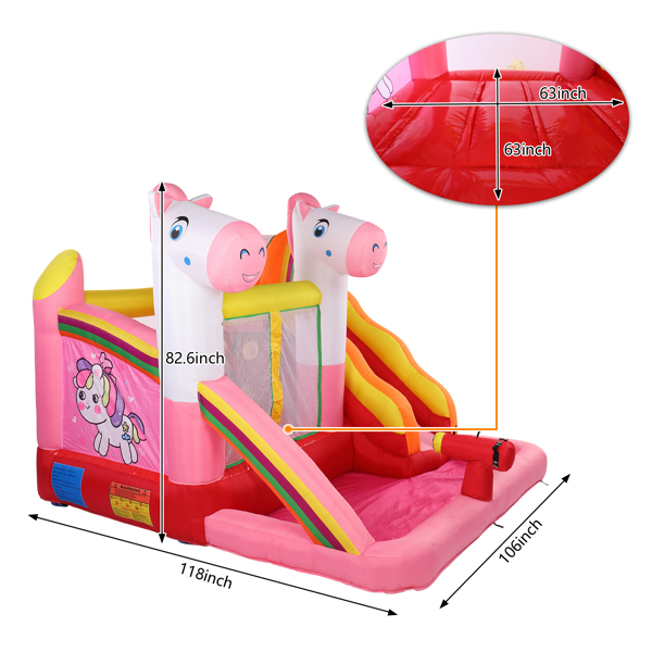 Inflatable Jumping Castle with Pool and Slide