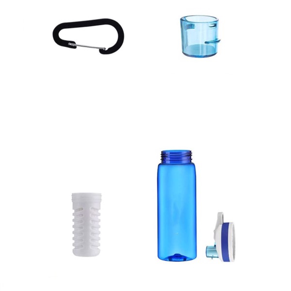 Sports Water Bottle, 770ml Bpa Free Water Bottle with Filter And Straw for Hiking, Camping, Backpacking And Traveling