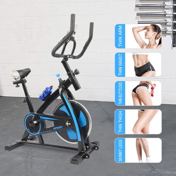 Stationary Exercise Bike Fitness Cycling Bicycle Cardio Home Sport Gym Training Blue