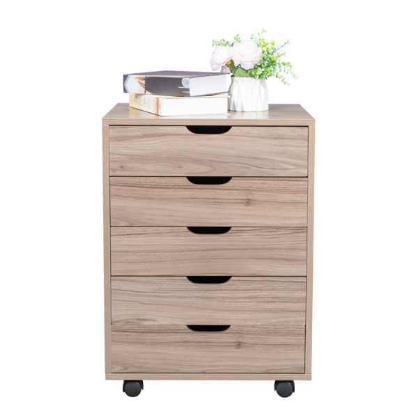 Five Drawers MDF With PVC Wooden File Cabinet Gary