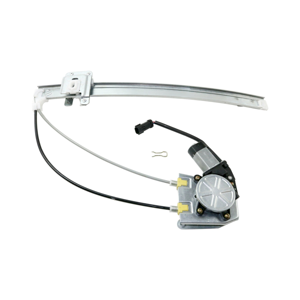 Window Motor & Regulator Assembly Rear Left Driver-Side Upgraded Cable Style Fits 2002-2007 Jeep Liberty (Ball Stud & Clip Type Glass Attachment; Replaces 68059647AA, 55360035AJ)