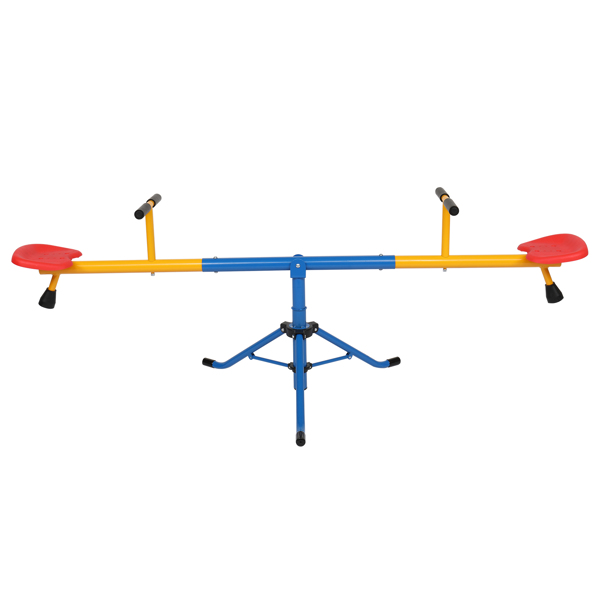 Kids Seesaw 360 Degrees Rotation Teeter-Totter, Toddlers Swivel Teeter-Totter Equipment for Home Backyard Playground Outdoor