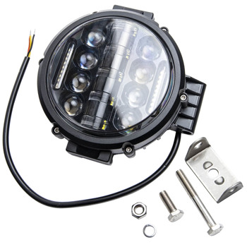 """LED灯1x 7""""inch 200w Round Off Road DRL LED Work Lights For Jeep Bumper Truck Boat 4WD"""