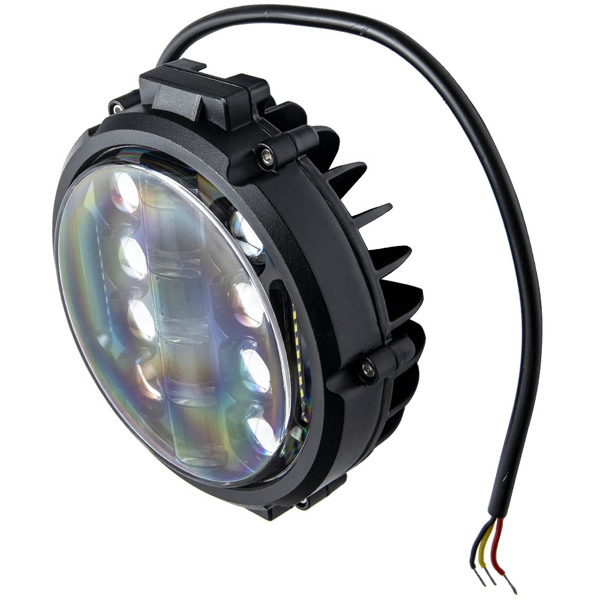 """1x 7""""inch 200w Round Off Road DRL LED Work Lights For Jeep Bumper Truck Boat 4WD"""